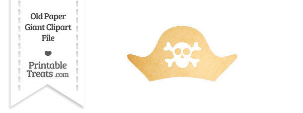 Old Paper Giant Pirate Hat Clipart