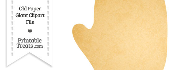 Old Paper Giant Right Glove Clipart