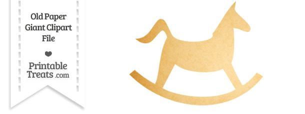 Old Paper Giant Rocking Horse Clipart