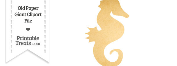 Old Paper Giant Seahorse Clipart