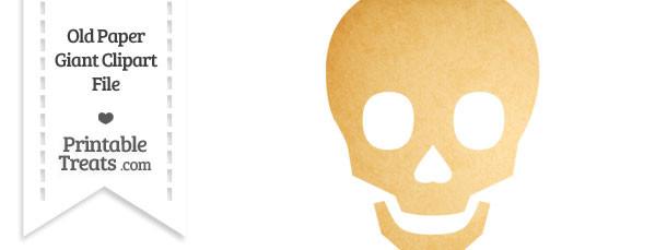 Old Paper Giant Skull Clipart