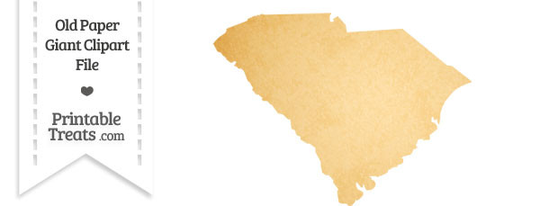 Old Paper Giant South Carolina State Clipart
