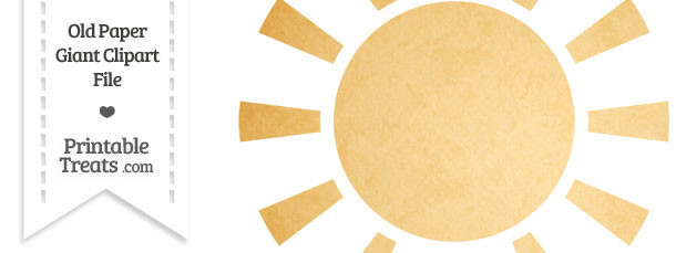 Old Paper Giant Sun Clipart