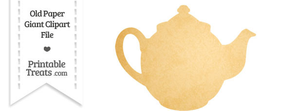 Old Paper Giant Teapot Clipart