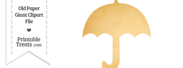Old Paper Giant Umbrella Clipart