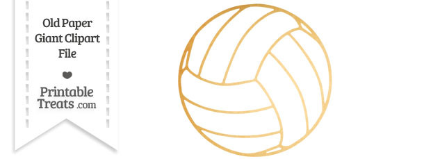 Old Paper Giant Volleyball Clipart