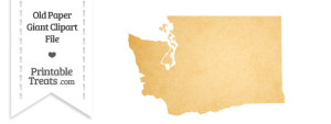 Old Paper Giant Washington State Clipart