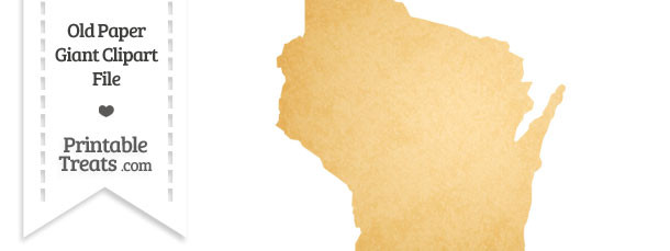 Old Paper Giant Wisconsin State Clipart