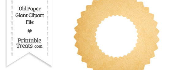 Old Paper Giant Wreath Clipart