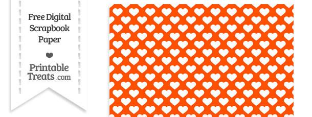 orange heart pattern digital paper  u2014 printable treats com