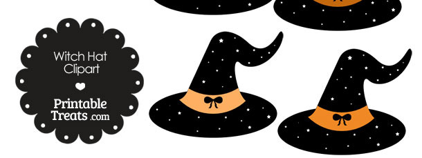 Orange Witch Hat Clipart