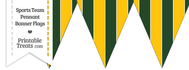 Packers Colors Pennant Banner Flag