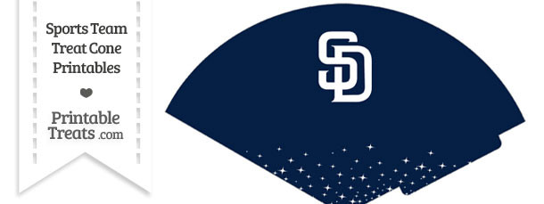 Padres Treat Cone Printable