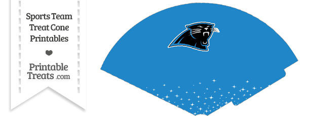 Panthers Treat Cone Printable
