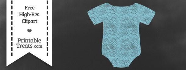 Pastel Aqua Blue Baby Onesie Chalk Clipart