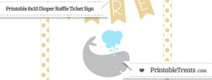 free-pastel-bright-orange-dotted-whale-8x10-diaper-raffle-ticket-sign-to-print