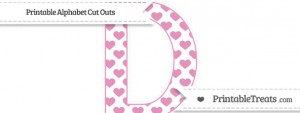 free-pastel-bubblegum-pink-heart-pattern-extra-large-capital-letter-d-cut-outs-to-print