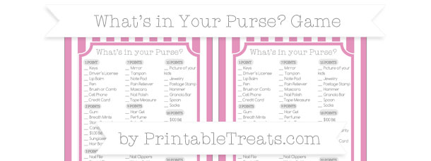Imagenes De What In Your Purse Baby Shower Game Printable Free