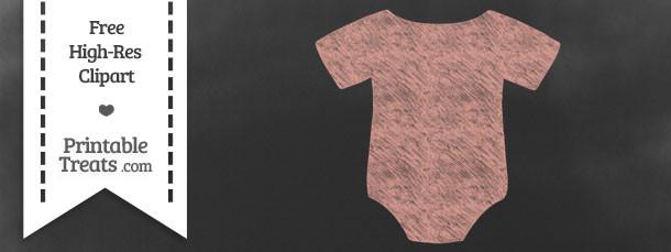 Pastel Coral Baby Onesie Chalk Clipart