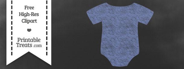 Pastel Dark Blue Baby Onesie Chalk Clipart