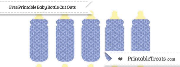 Pastel dark blue fish scale pattern small baby bottle cut for Fish scale coke cut