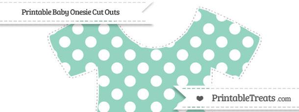 free pastel green polka dot extra large baby onesie cut