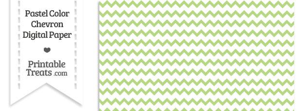 Pastel Light Green Chevron Digital Scrapbook Paper Printable Treats Com