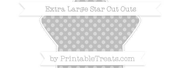 Pastel Light Grey Dotted Pattern Extra Large Star Cut Outs