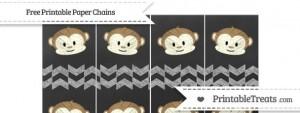 free-pastel-light-grey-herringbone-pattern-chalk-style-boy-monkey-paper-chains-to-print