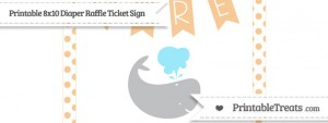 free-pastel-light-orange-dotted-whale-8x10-diaper-raffle-ticket-sign-to-print