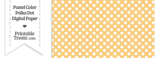 Pastel Light Orange Polka Dot Digital Scrapbook Paper
