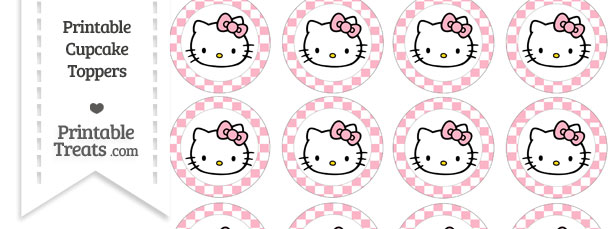 Free pastel light pink checker pattern hello kitty cupcake toppers free pastel light pink checker pattern hello kitty cupcake toppers maxwellsz