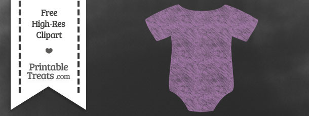 Pastel Light Plum Baby Onesie Chalk Clipart