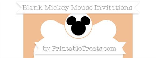 Free Pastel Orange Blank Mickey Mouse Invitation Printable Treatscom