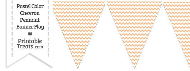 Pastel Orange Chevron Pennant Banner Flag Printable Treats Com