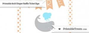 free-pastel-orange-dotted-whale-8x10-diaper-raffle-ticket-sign-to-print
