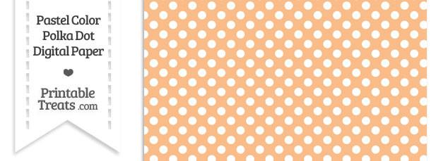 Pastel Orange Polka Dot Digital Scrapbook Paper