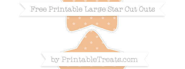 Pastel Orange Star Pattern Large Star Cut Outs
