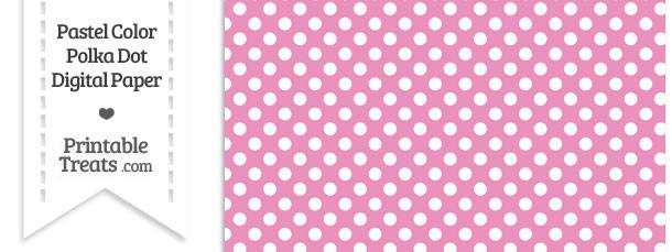 Pastel Pink Polka Dot Digital Scrapbook Paper