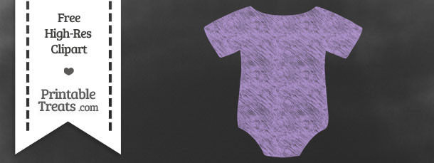 Pastel Purple Baby Onesie Chalk Clipart