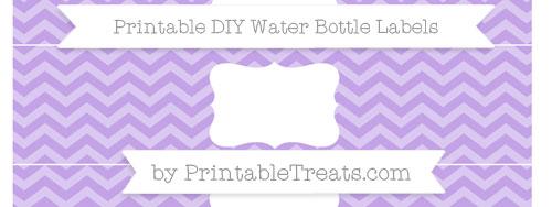 Pastel Purple Chevron Diy Water Bottle Labels Printable