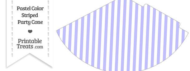 Pastel Purple Striped Party Cone