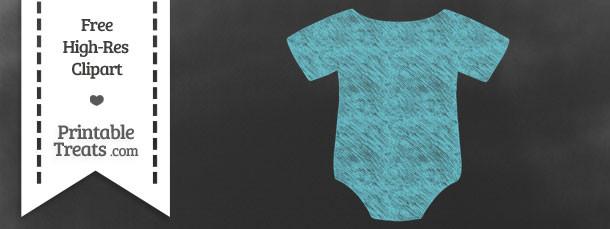 Pastel Teal Baby Onesie Chalk Clipart