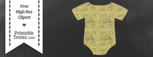 Pastel Yellow Baby Onesie Chalk Clipart