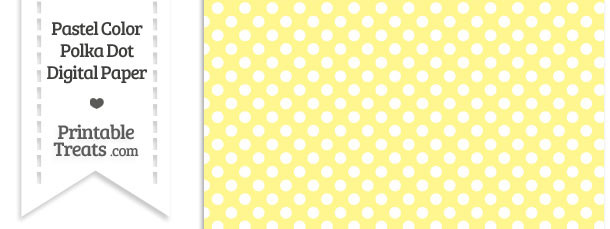 Pastel Yellow Polka Dot Digital Scrapbook Paper
