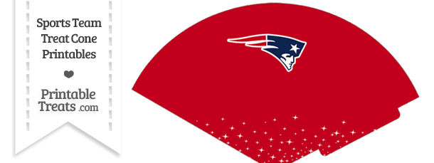 Patriots Treat Cone Printable