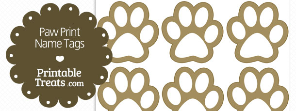 photograph relating to Free Printable Paw Prints known as Paw Print Status Tags Printable