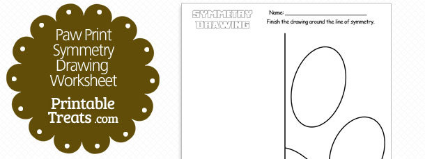 Printable paw template dog paw prints printable treats printable dachshund outline template free paw print symmetry drawing worksheet pronofoot35fo Choice Image