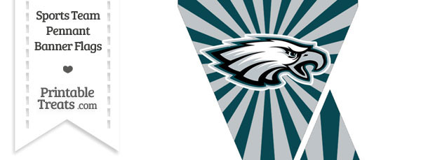 photograph regarding Philadelphia Eagles Printable Schedule identified as Philadelphia Eagles Mini Pennant Banner Flags Printable
