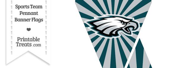 photo about Philadelphia Eagles Printable Schedule known as Philadelphia Eagles Mini Pennant Banner Flags Printable